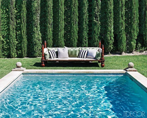 We have the pool and the Italian Cypress trees Now we just need - pool im garten integrieren