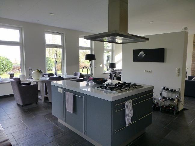 Kookeiland eiland keukens pinterest keuken keukens en keuken idee n - Trendy deco eetkamer ...