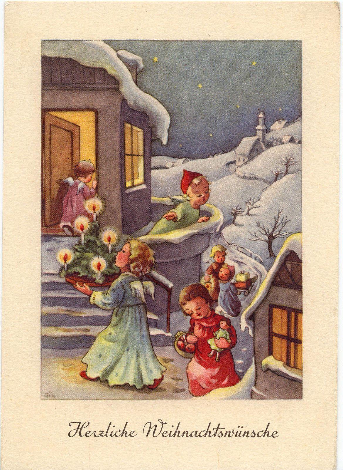 Herzliche Weihnachtswünsche.Ak Elfriede Türr Herzliche Weihnachtswünsche Ebay Vintage