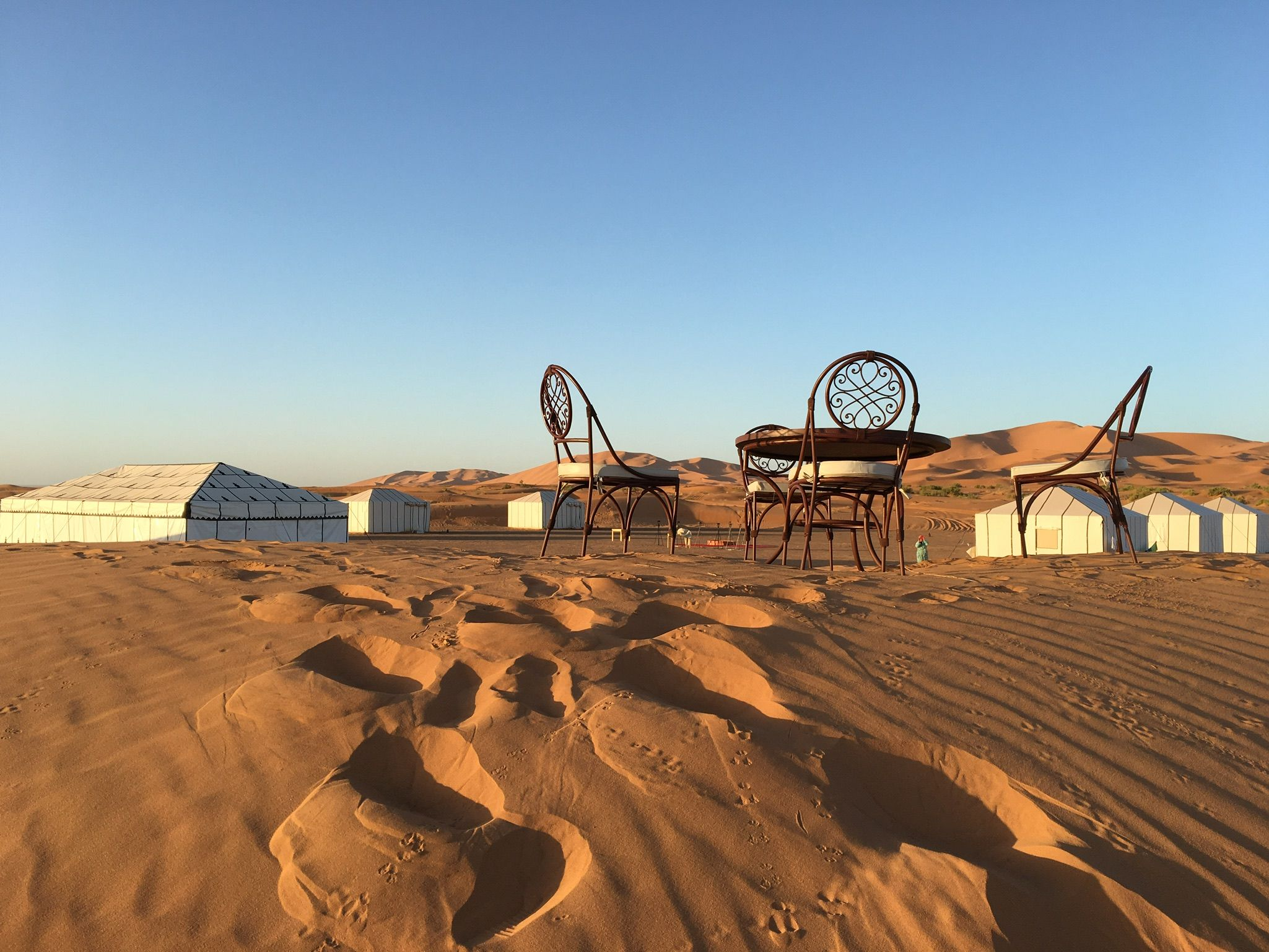Merzouga Luxury desert & Desert Camps from Marrakech camps are in the heart of the desert, here you will experience what it is to be secluded in the middle of nowhere, just you, the stars and the camp fire http://luxury-tours-morocco.com/merzouga-desert-camp.php