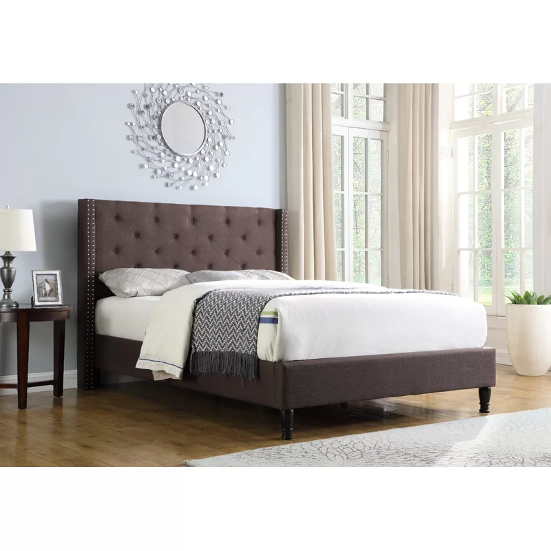 Boswell Tufted Upholstered Low Profile Platform Bed Upholstered Platform Bed Platform Bed Platform Bed Frame