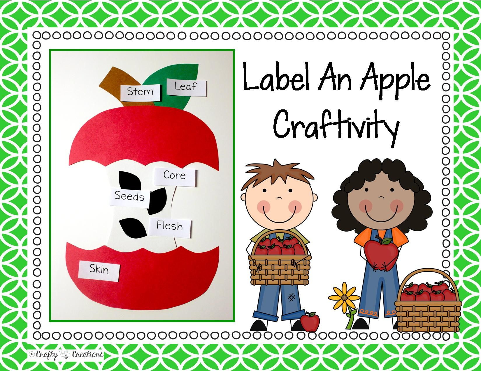 Apple Craft Label An Apple