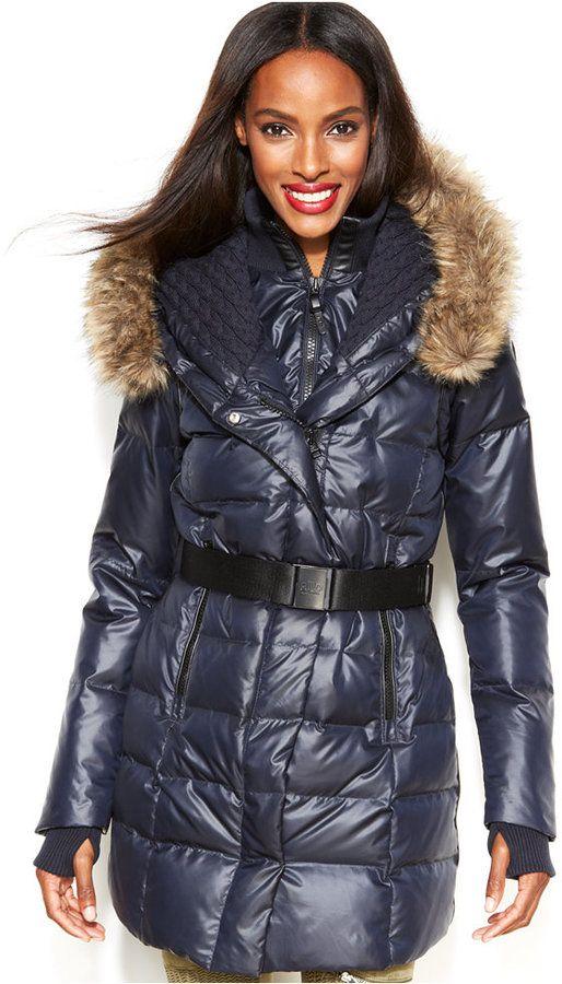82ed008b2 Rudsak RUD styled by Faux-Fur-Trim Belted Puffer Down Coat on ...