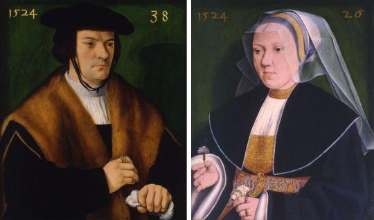 1524 Barthel Bruyn the Elder - Gerhard von Westerburg and his wife Gertraude von Leutz