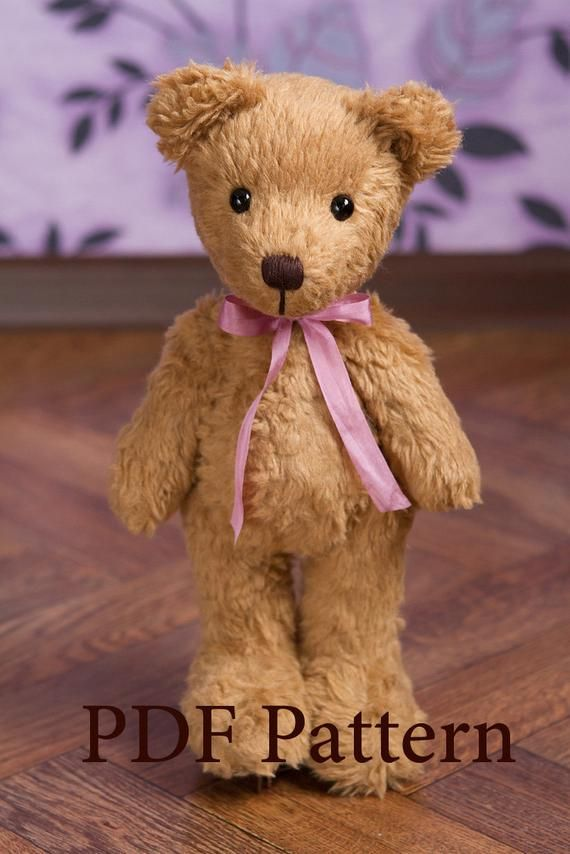Teddy Bear Pattern - Misha. Big Teddy bear sewing pattern PDF #teddybearpatterns