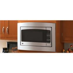 Ge Stainless Steel Deluxe Built In Trim Kit For Countertop Microwave Ping The Best Prices On Over Range Microwaves