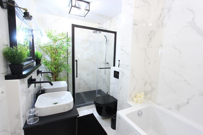 Deco Salle De Bain Avant Apres deco : avant – apres salle de bain en noir et blanc