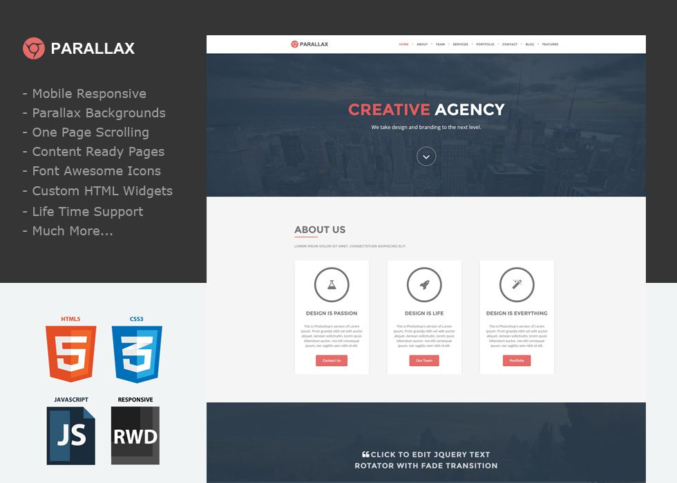 Parallax Website Template Parallax Dark  A One Page Custom Weebly Template That Will Knock