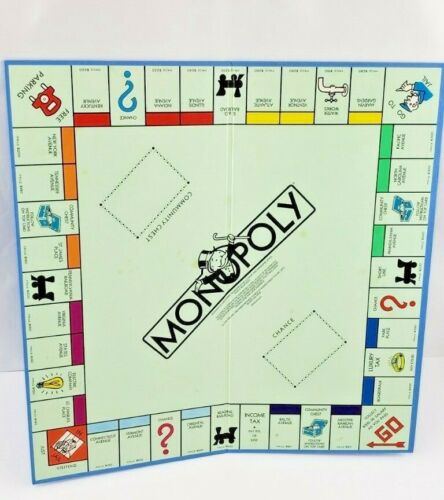 Vintage Monopoly Board Only Crafts Art Replacement Parts 1985 Usa Ebay Replacement Parts Arts And Crafts Monopoly Board