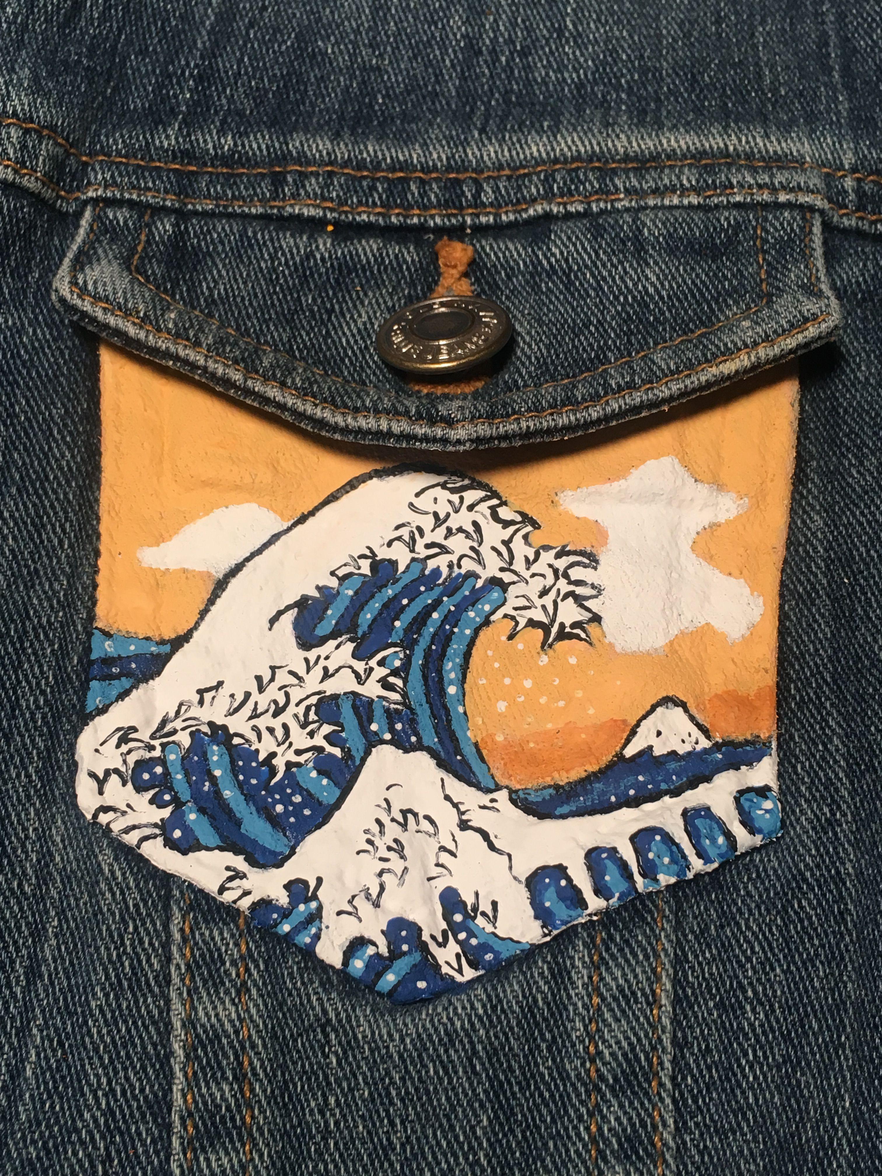 25281cba035 HONEYSWEETKISS Painted Denim Jacket