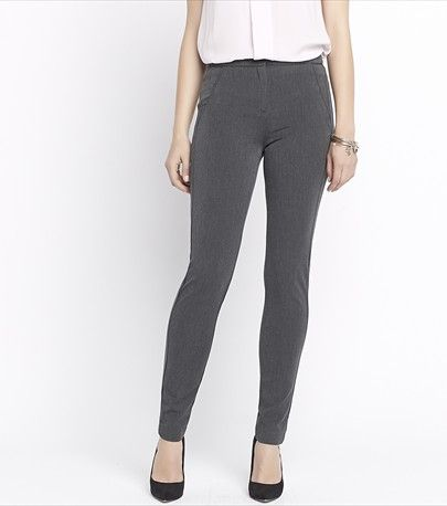Tailored to fit! Look effortlessly put together with these grey fitted dress pants.