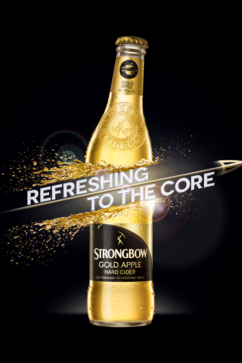Strongbow Gold on Behance