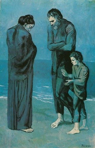 Pablo Picasso.The Tragedy. 1903. Blue Period stretched from 1901 ...
