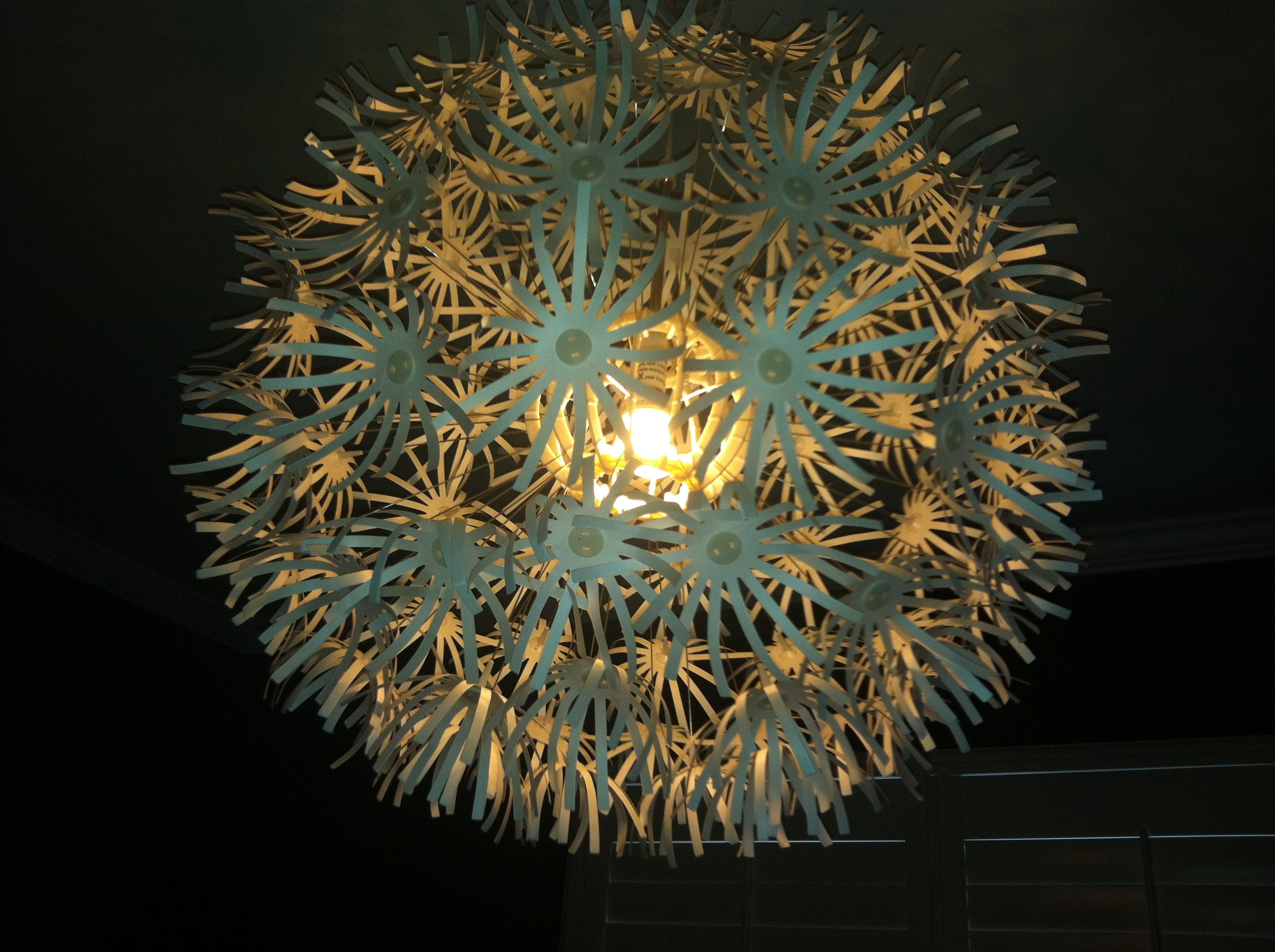 Paper floral chandelier ikea home decorating pinterest floral paper floral chandelier ikea mightylinksfo