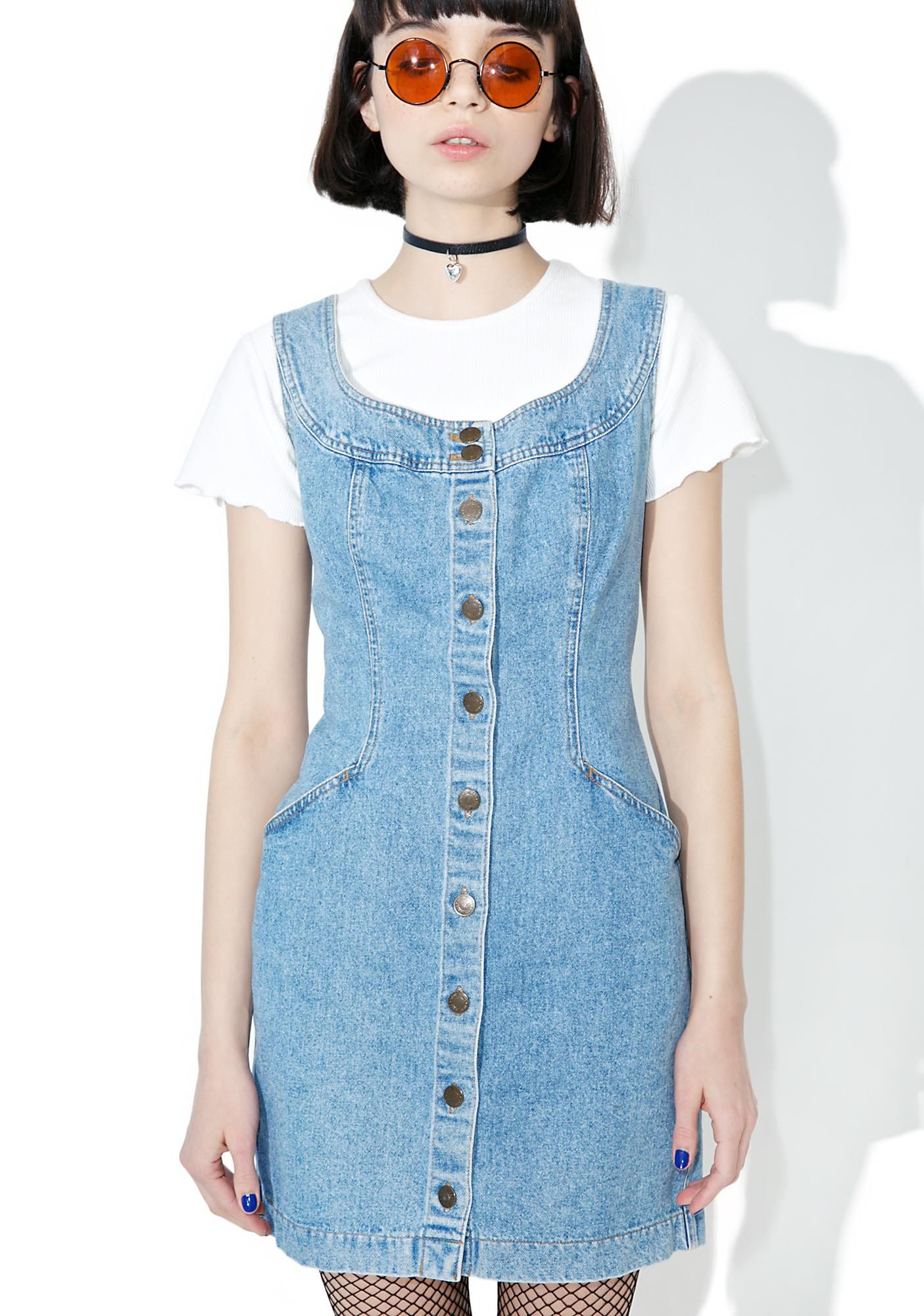 7c1a4ed9099 Vintage 90s DKNY Denim Mini Dress in 2019 | saga rose | Dresses ...