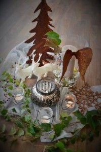 Impression vorfreude hirsch rost windlicht engelsfl gel stern baum dekorieren windlichter - Baum dekorieren ...