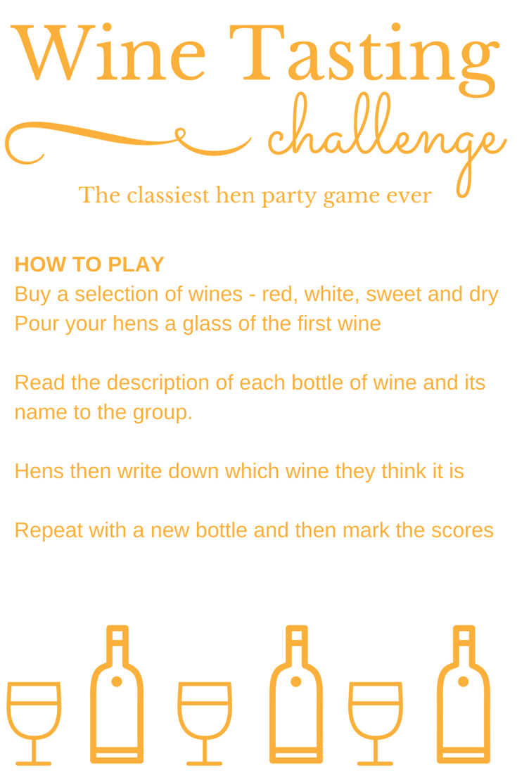 The classiest hen party game ever? The Wine Tasting Challenge tests ...