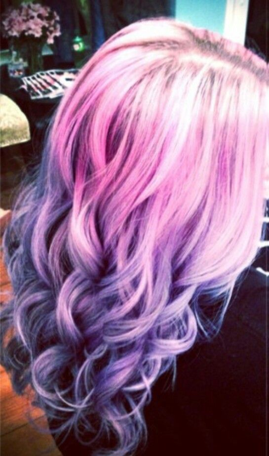 Pink And Purple Pastel Ombre Hair