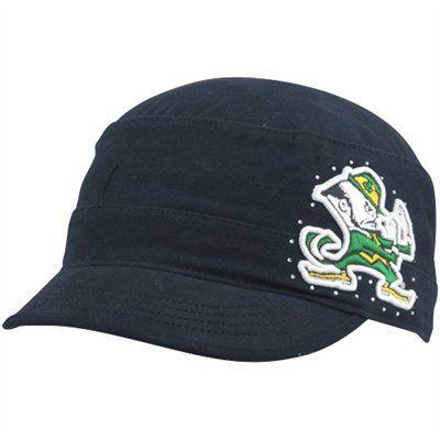 fc1cd8dc4e738f Notre Dame Fighting Irish Swarovski Rhinestone Bling cadet military womens  hat. www.babywantsbling.com | college bling hats | Hats, Notre dame  football, ...