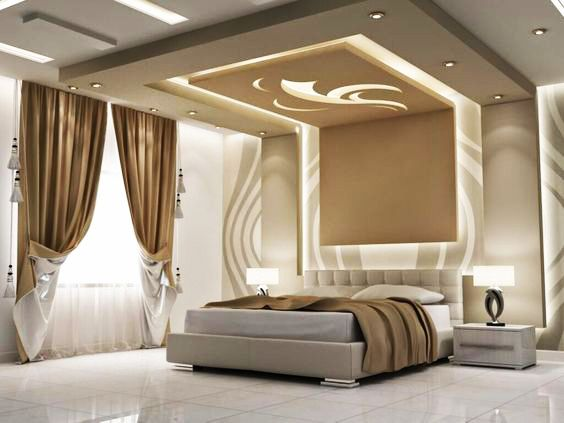سقف معلق 15 ديكورات اسقف جبس لمنزل غير تقليدي Unique Bedroom Design Ceiling Design Living Room Bedroom False Ceiling Design