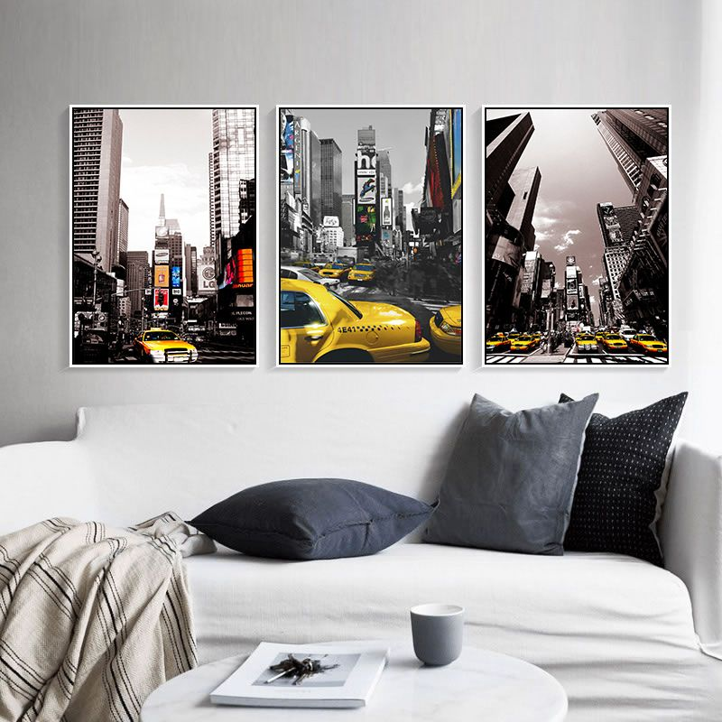 How to discount 35 sale price us 855 haochu new york city street haochu new york city street scenery edifice taxi canvas painting modern picture photography for living room decor no frame solutioingenieria Images