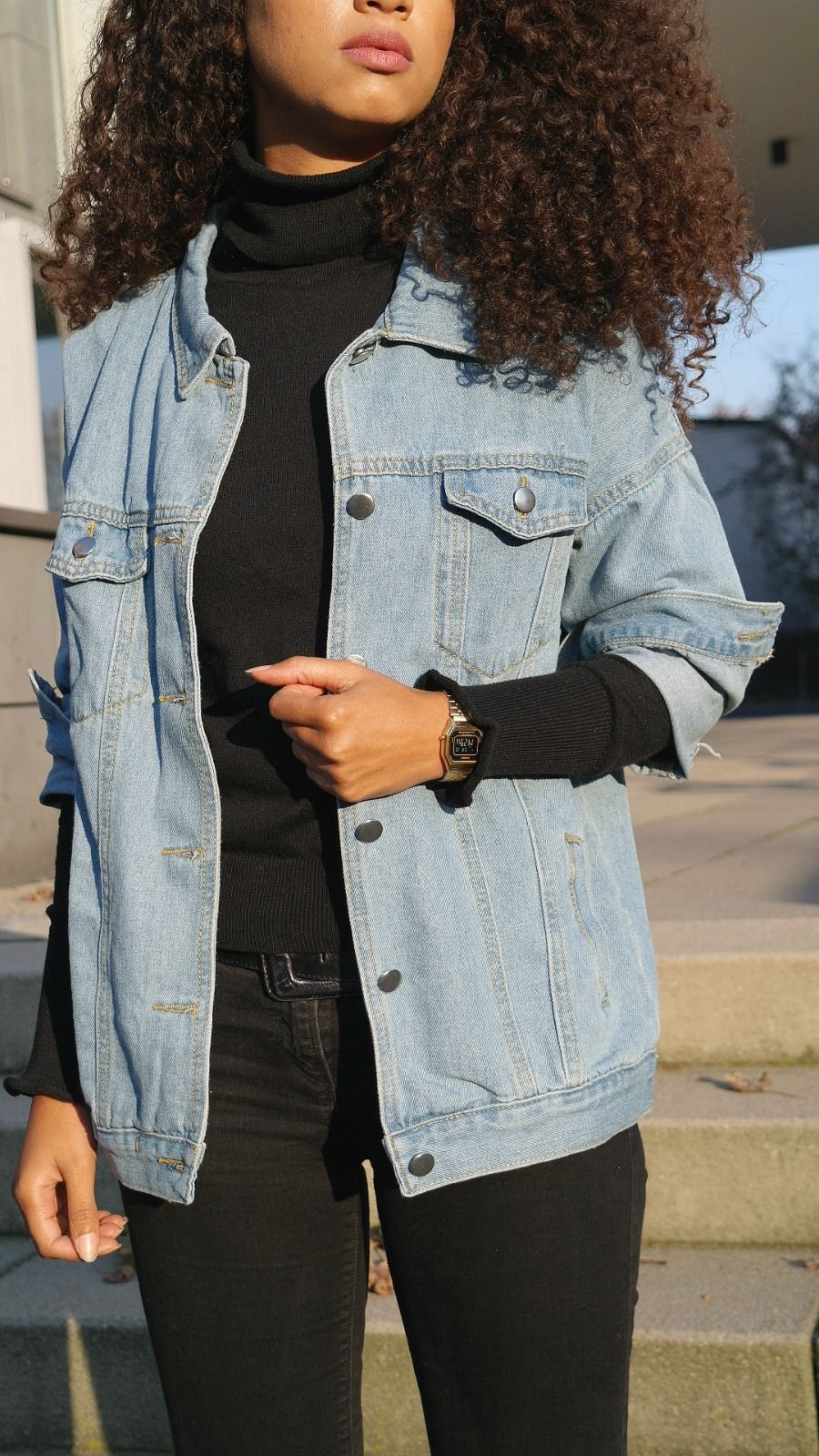 3a413b1838eff Outfit  Denim Jacket from Romwe Fashion