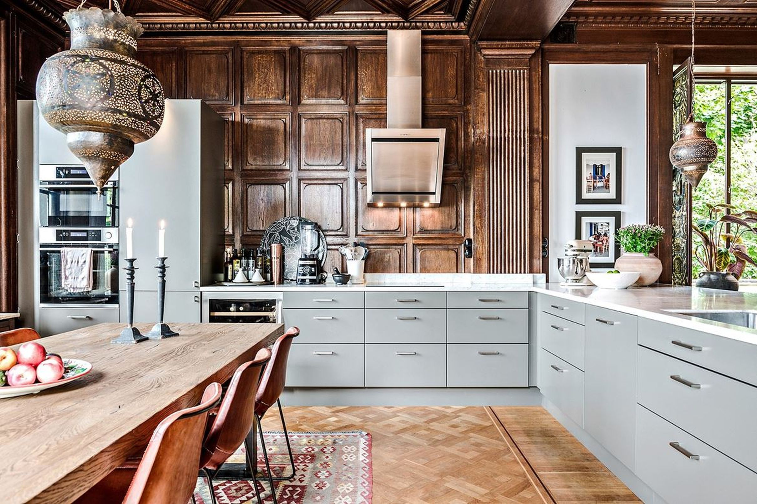 Swedish Apartment For Sale Is A Daring Mix Of Old And New Curbed Kitchen Design New Kitchen Apartments For Sale