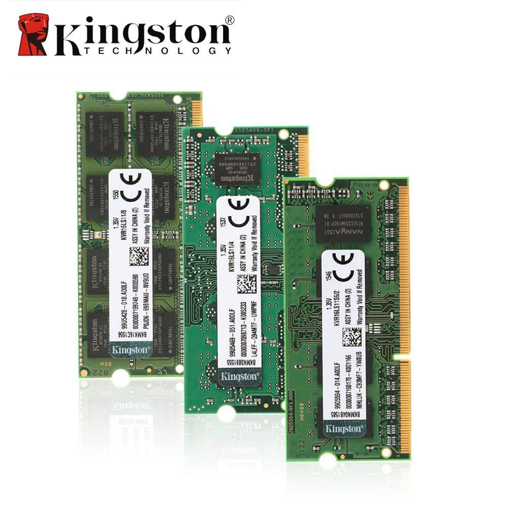 Kingston Original Ram 1600mhz Cl11 204pin Sodimm Ddr3 4gb 8gb Inter Ddr2 2gb Laptop Pc6400 Memoria 135v For Notebook Motherboard Memory