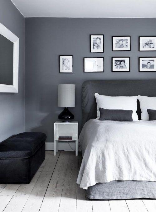 Tonos Grises Para Decorar Una Habitacion Con Cuadros Gray Bedroom Walls Bedroom Wall Colors Bedroom Wall Paint
