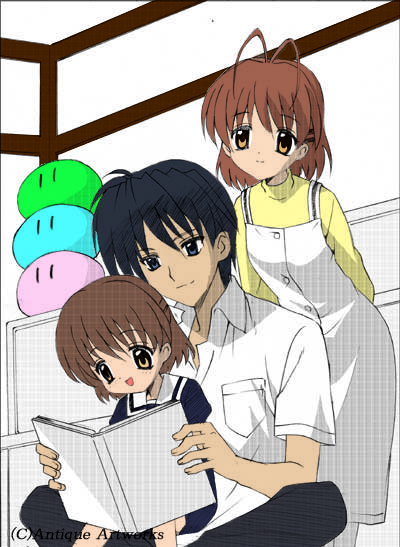 Clannad Tomoya And Nagisa And Ushio Tomoya Nagisa And Ushio By Kjmarkely Clannad Clannad After Story Anime