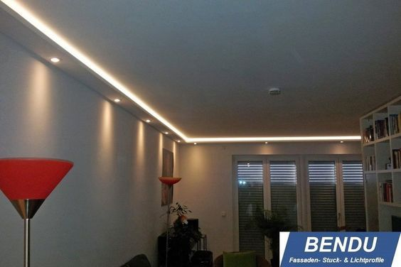 Details zu BENDU LED Stuckleisten für indirekte Beleuchtung - led leuchten wohnzimmer
