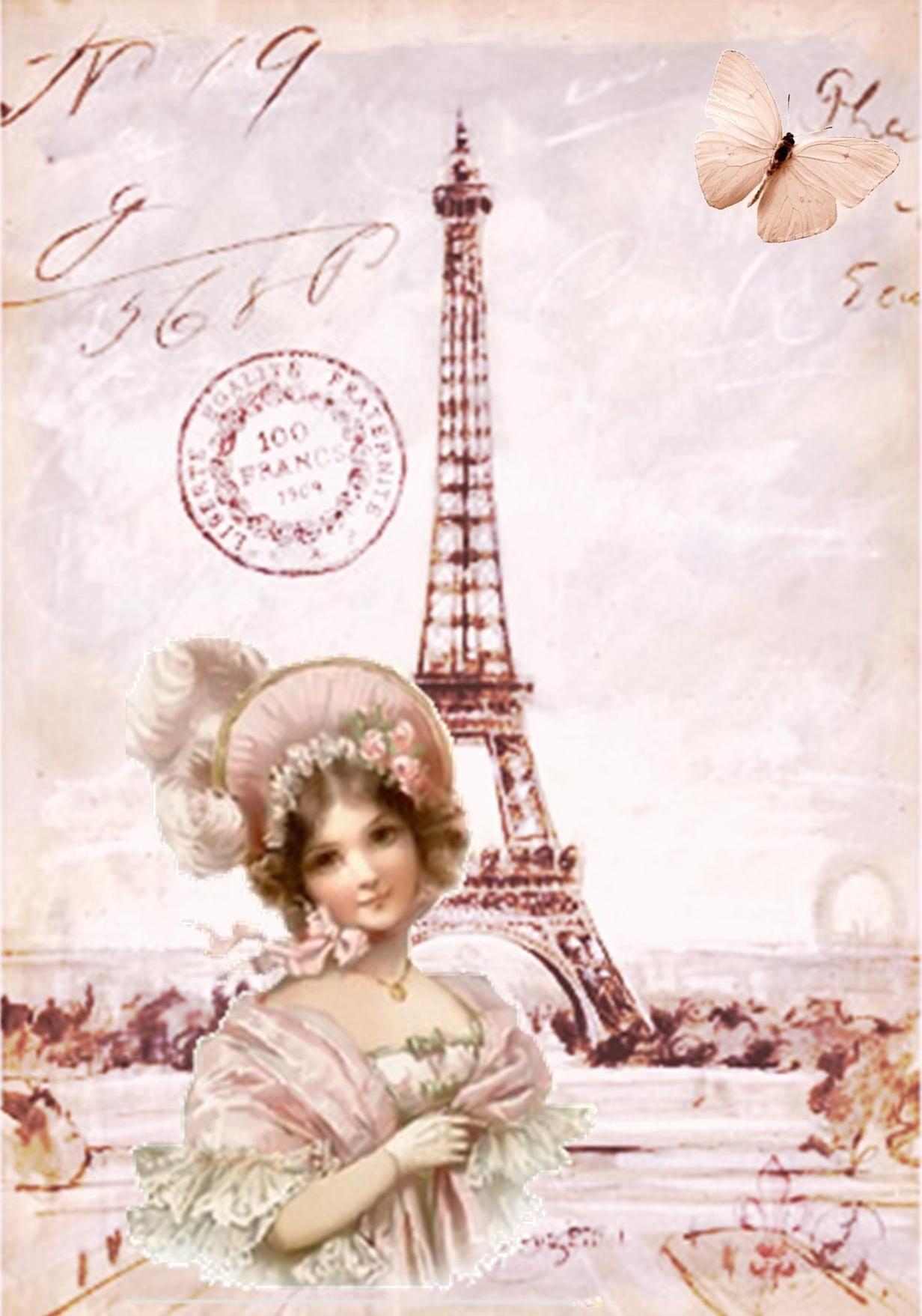 Оформление открытки на французском