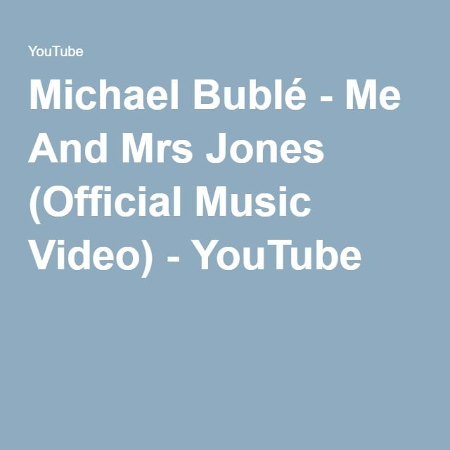 Me and mrs jones official video
