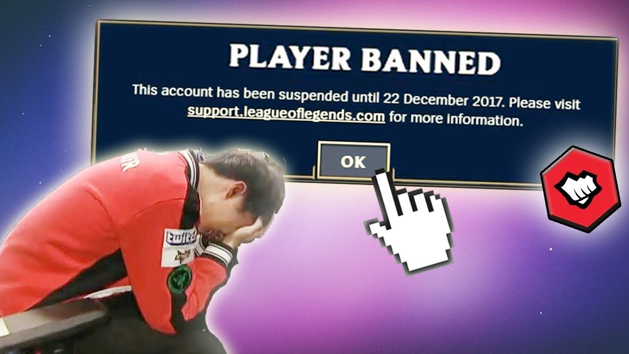Riot banned me for trying to log in league of legends funny