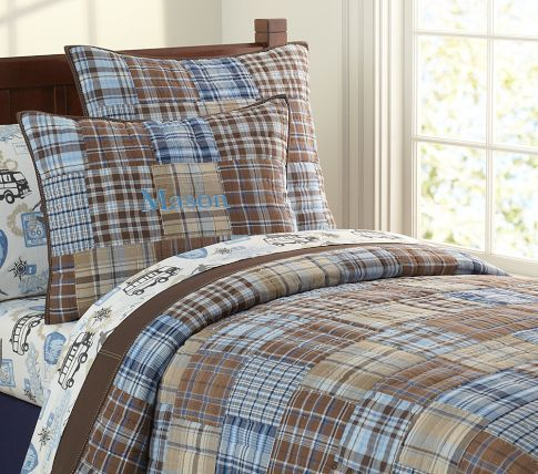 Madras Quilted Bedding Pottery Barn Kids Emerson S