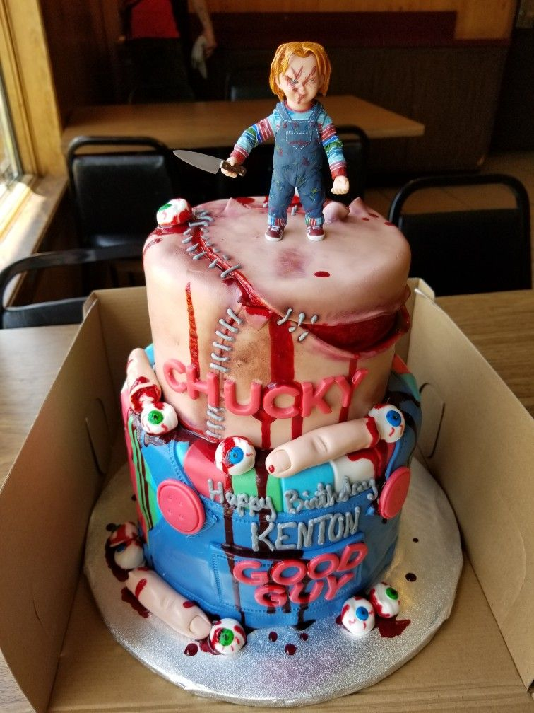 Outstanding Www Facebook Com Luckyacescakes Chucky Cake Cake Pricing Cake Funny Birthday Cards Online Sheoxdamsfinfo
