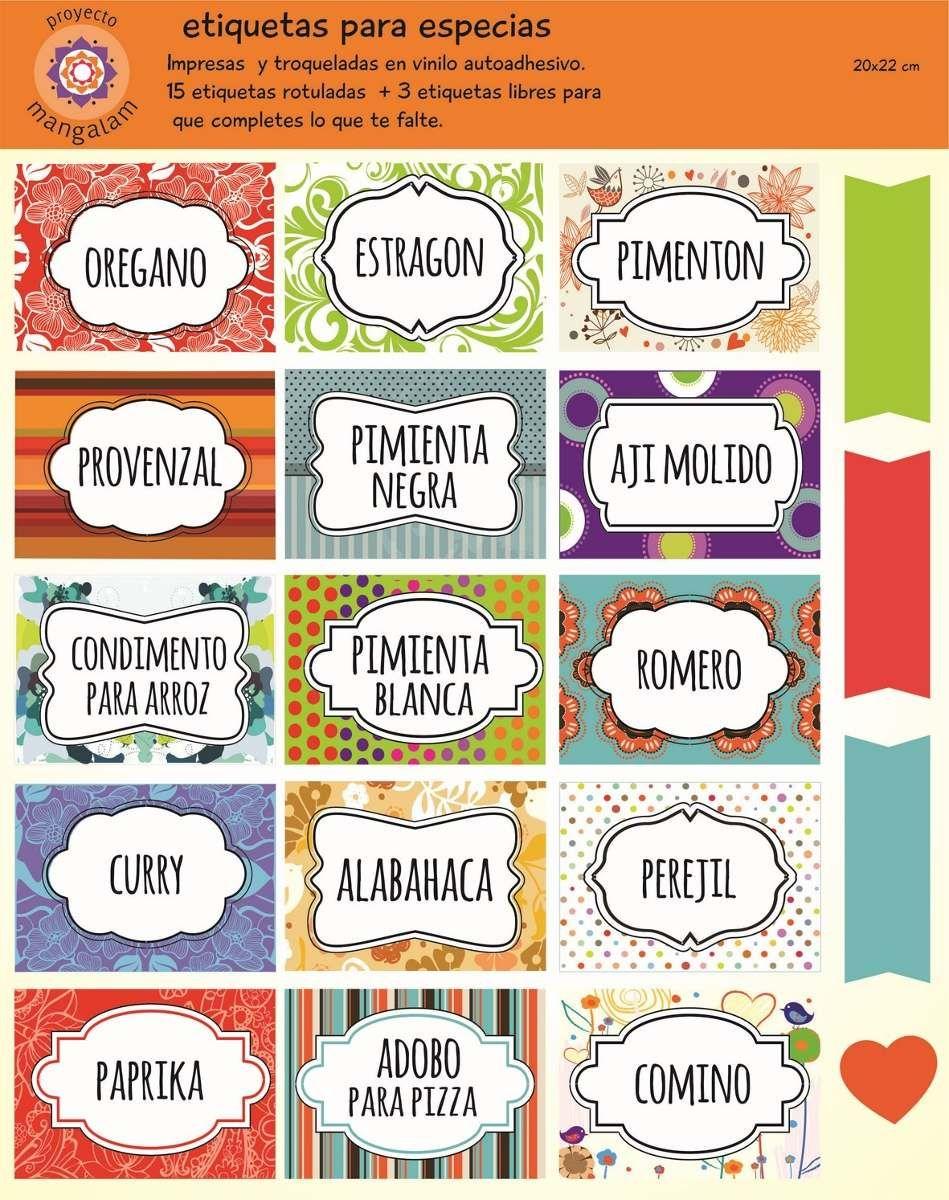 etiquetas para condimentos de cocina - Buscar con Google | Etiquetas ...