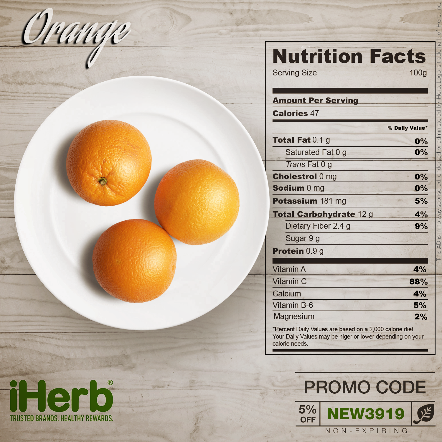 Orange Nutrition Facts Fill The Gaps In Your Nutrition Iherb Iherbcode Healthcare Bodybuilding Fitness N Orange Nutrition Nutrition Facts Healty Food