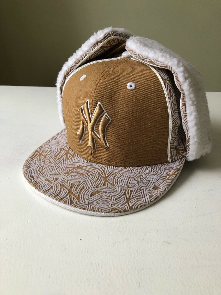 4caaab12b96 NEW ERA 59FIFTY DOG EAR NEW YORK YANKEES BROWN WHITE Baseball Hat Cap Fur  Sherpa  fashion  clothing  shoes  accessories  mensaccessories  hats (ebay  link)