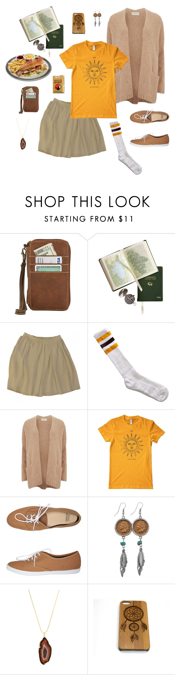 """""""Untitled #905"""" by ninfodora ❤ liked on Polyvore featuring American Apparel, American Vintage and American Coin Treasures"""