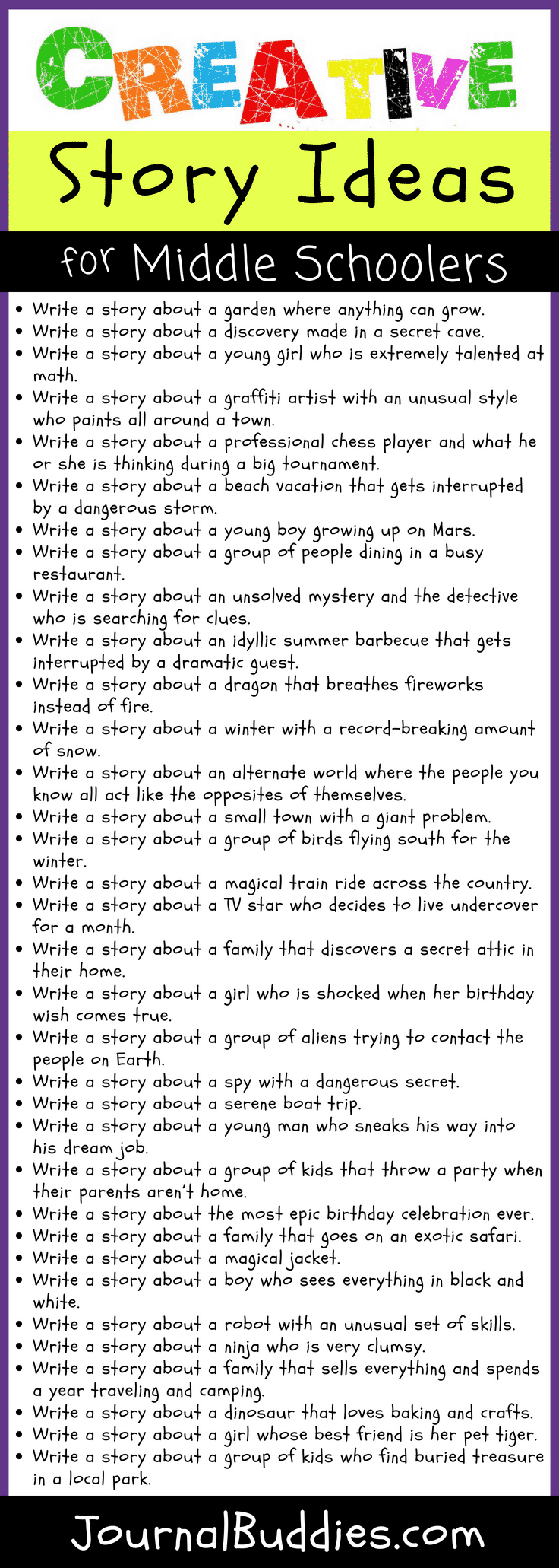 Creative Story Ideas for Middle Schoolers