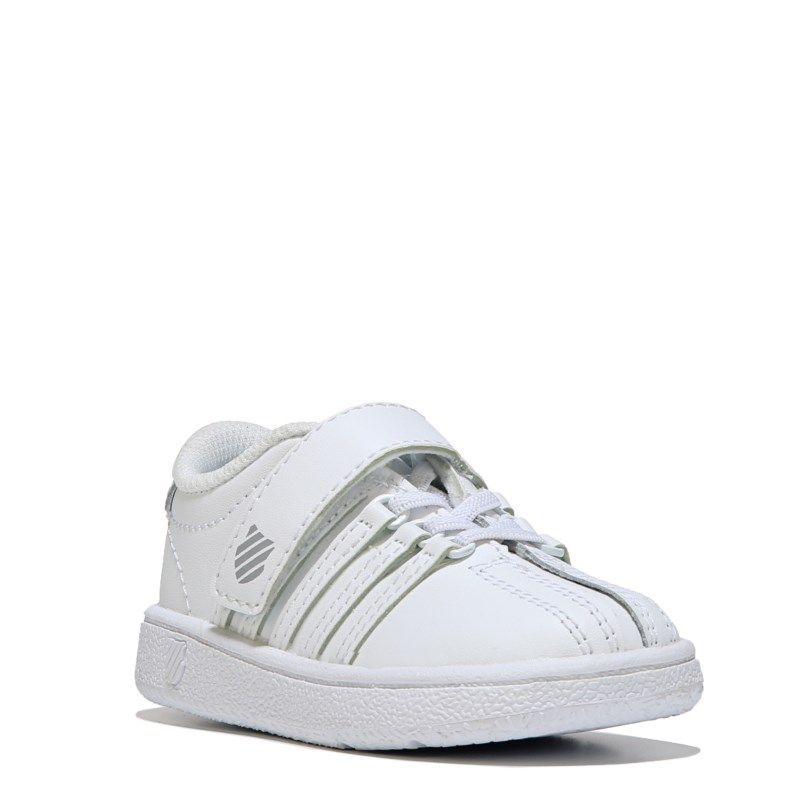 K-Swiss Kids' Classic VN Strap Sneaker Baby/Toddler Shoes (White/