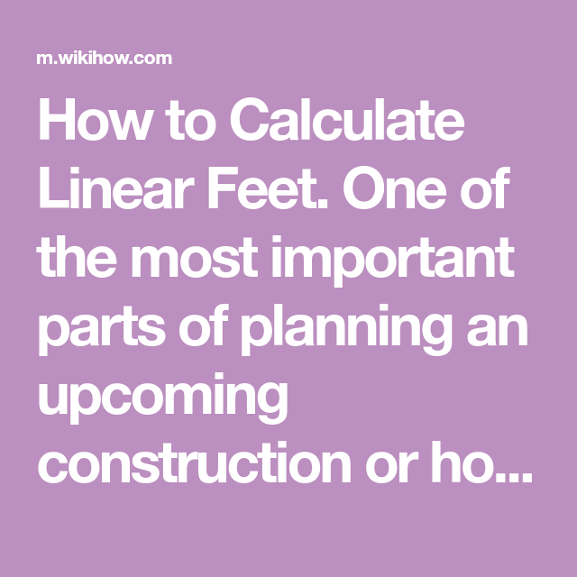 How To Calculate Linear Feet Linear Construction Design Building A Deck