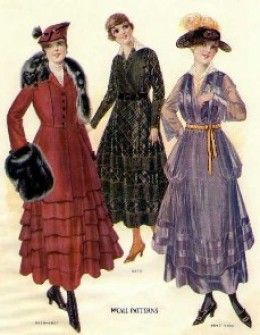 483af6cec84 Women and Fashions of the Early 20th Century - World War I Era - Clothing  of 1914 - 1920
