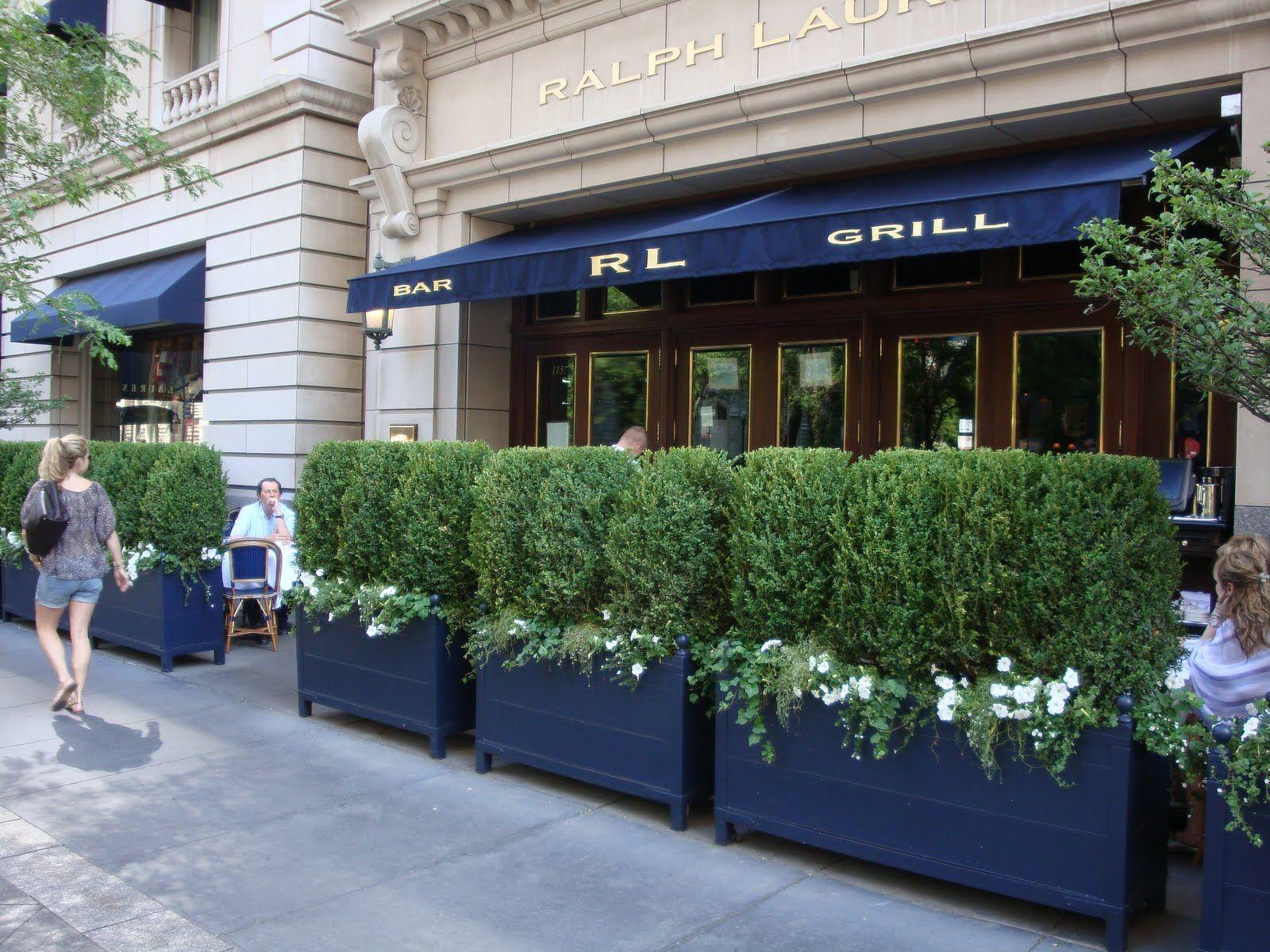 Outdoor Patio At Ralph Lauren Restaurant In Chicago Our
