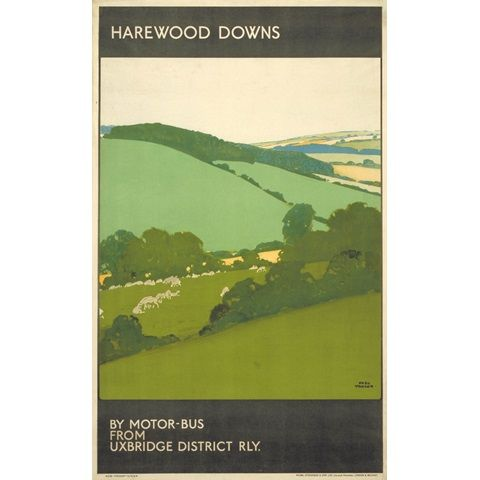 By Motor Bus From Uxbridge District Railway - Harewood Downs - Fred Taylor (1923)