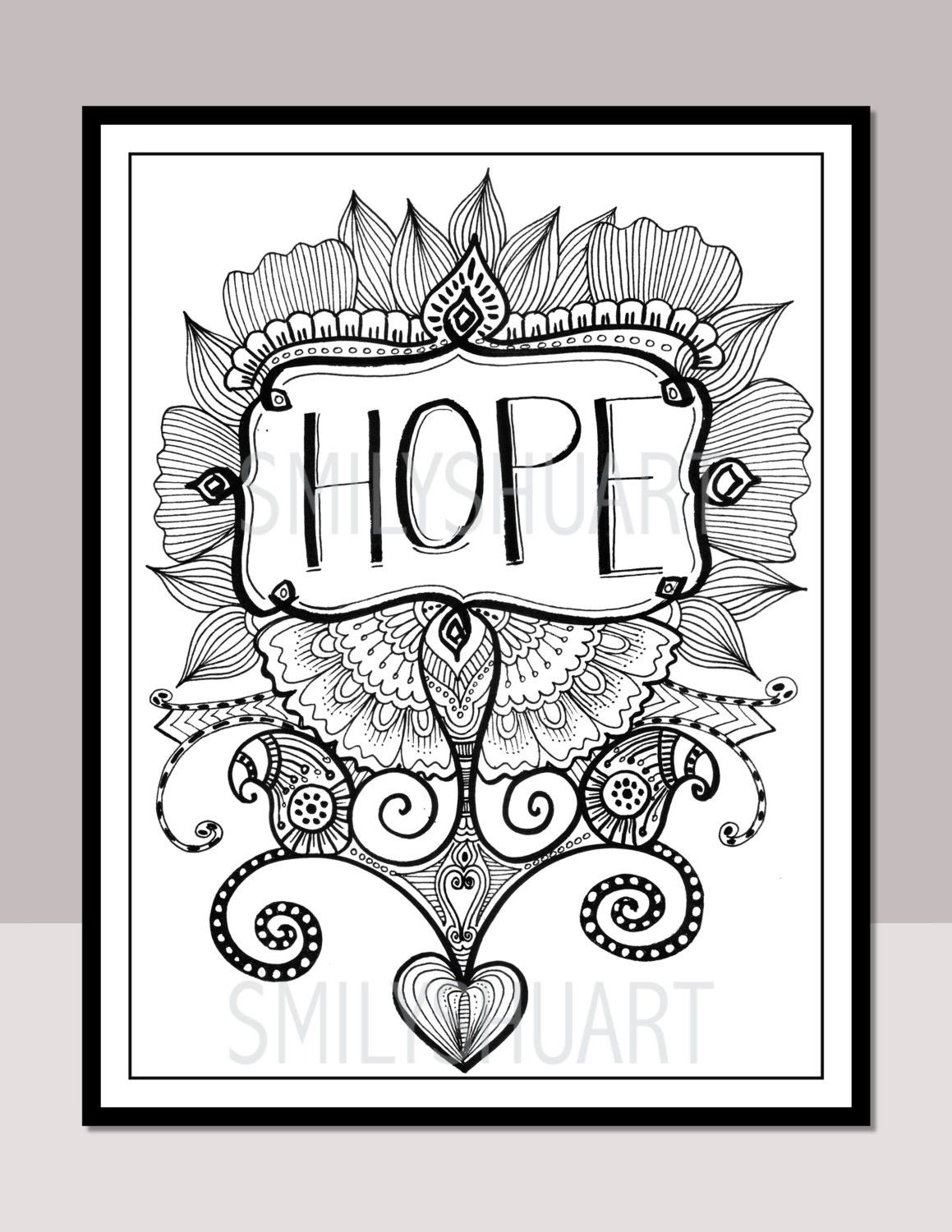 Christmas Zentangle Coloring Pages Copy Hope Printable