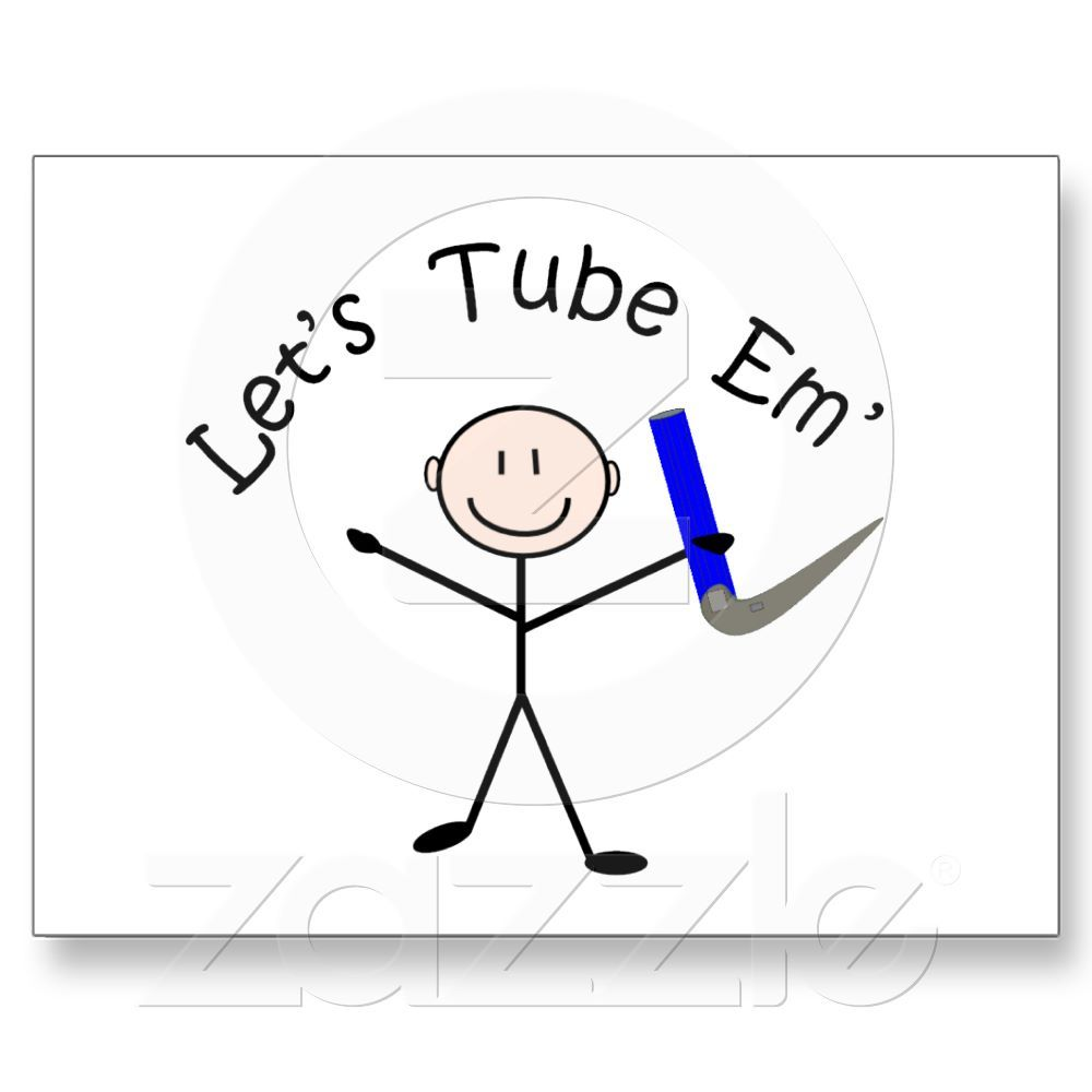 """Respiratory Therapy Stick Person """"Let's Tube Em"""" Postcard ..."""