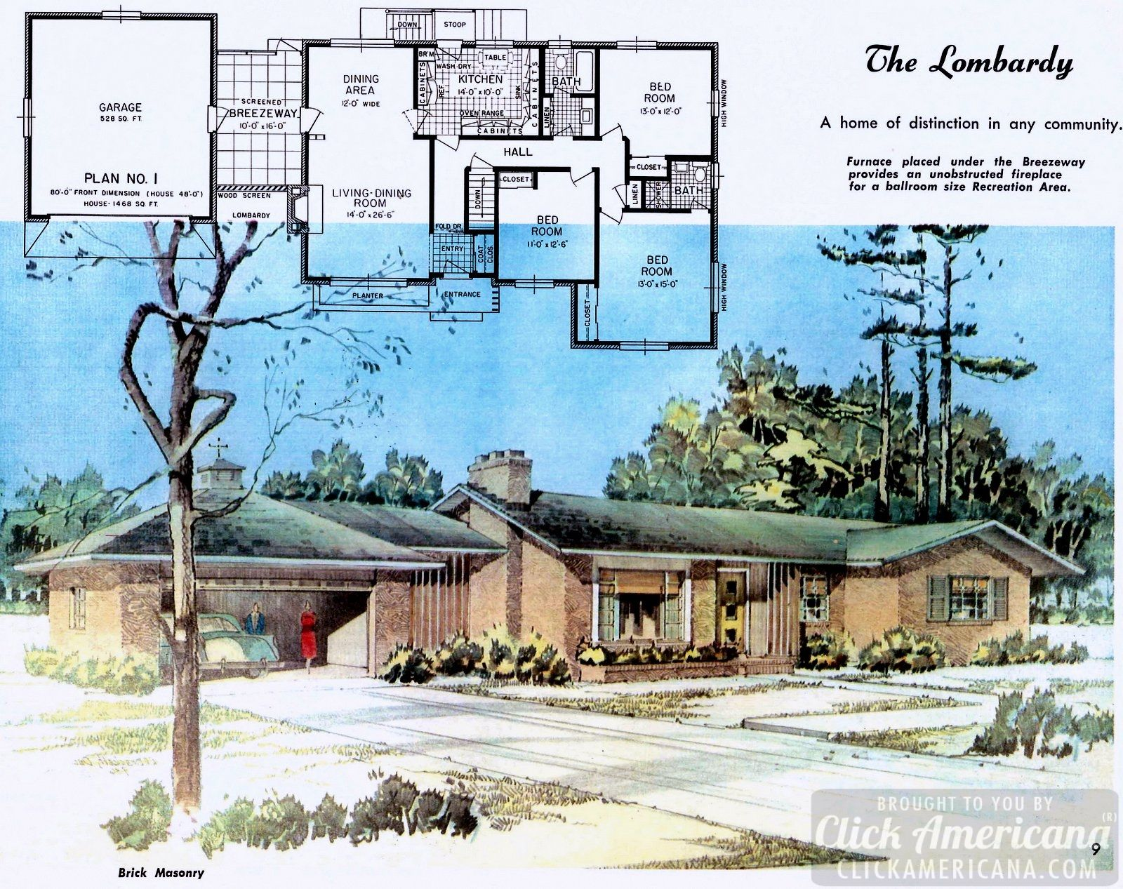1950s · modern homes · home design plans from 1958 mid century style mid century house home design plans