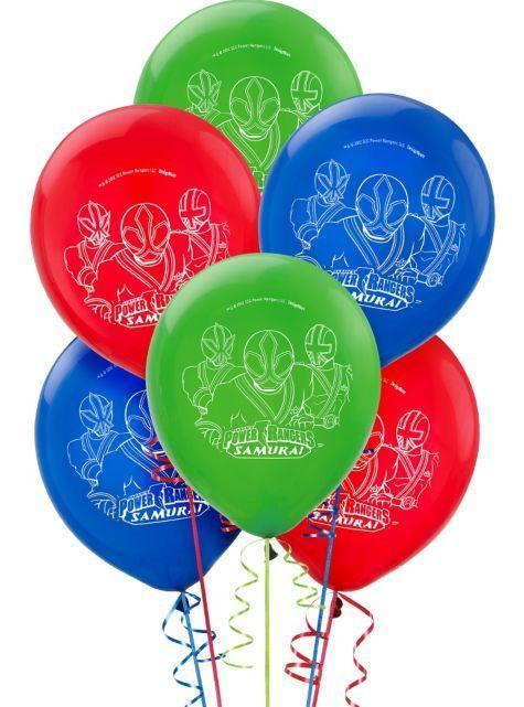 Samurai Power Rangers Balloons Party City Power Rangers Party